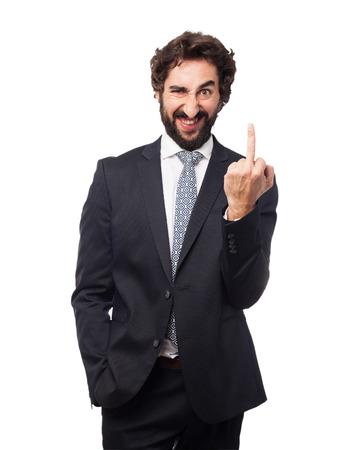 huffy: angry businessman disagree