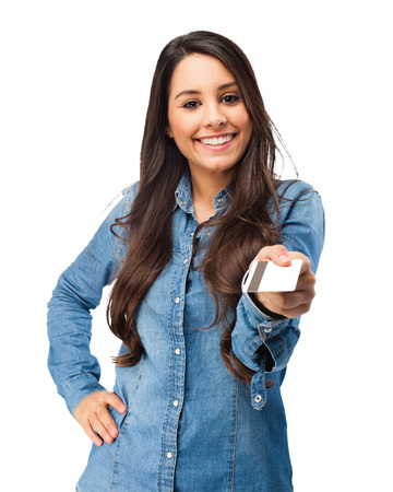 woman credit card: happy young woman with credit card