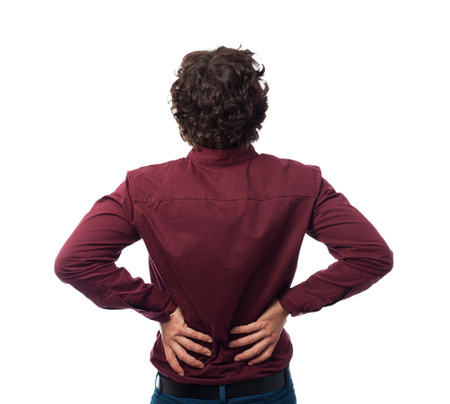 back ache: back young man back ache