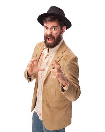 huffy: angry homeless man shouting