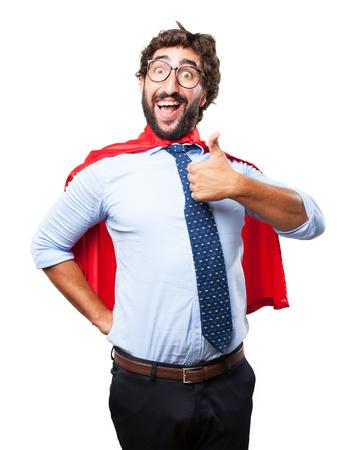 allright: crazy hero happy expression