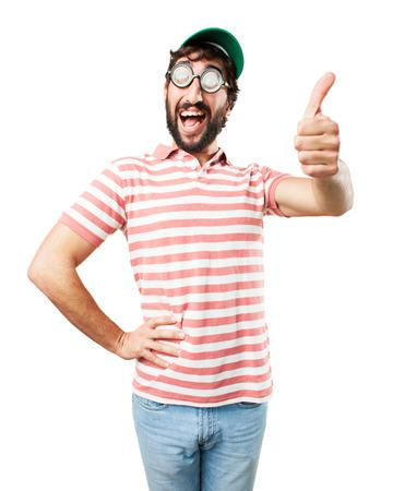 tonto: enga�ar a hombre loco. la expresi�n feliz