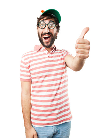 allright: fool crazy man. happy expression