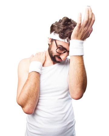 loser: crazy sports man sad expression