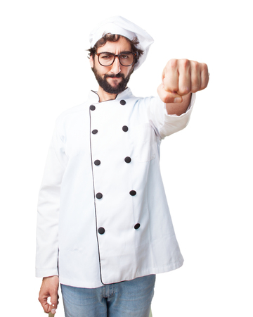 food fight: crazy chef angry expression