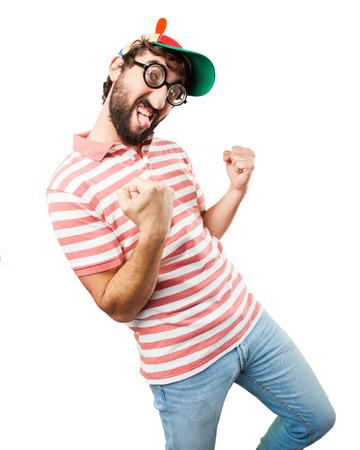 imbécil: engañar a hombre loco. la expresión feliz