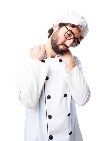 irritate: crazy chef sad expression Stock Photo
