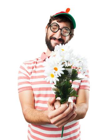 bobo: engañar a hombre loco. la expresión feliz
