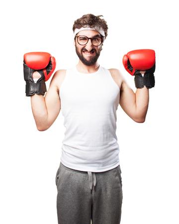 szalony sport człowiek zły wyraz Zdjęcie Seryjne