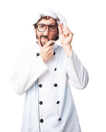 restaurant questions: crazy chef worried expression