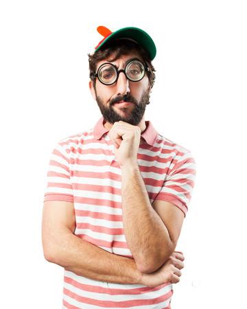 bobo: engañar a hombre preocupado expresión