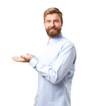 homme blond. heureuse expression Banque d'images