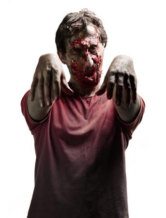 zombie man portrait