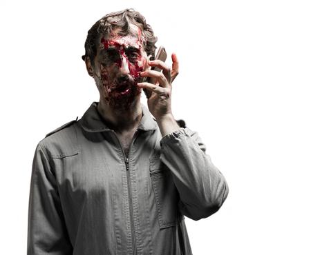 massacre: zombie man portrait
