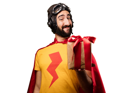 crazy super hero with a gift