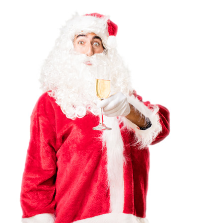 xmass: santa claus with a drink