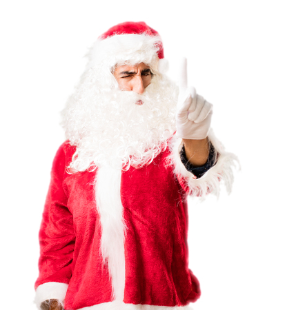 santa claus disagree pose