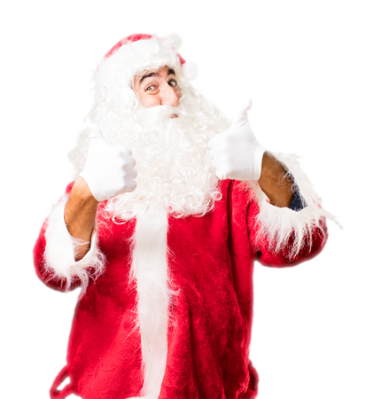 christmastime: santa claus okay sign