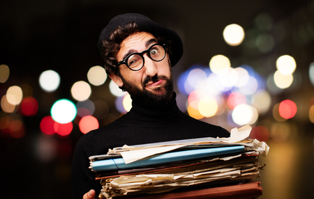 young french artist with files