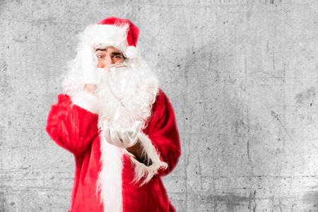 santa claus with sand clock Stock Photo