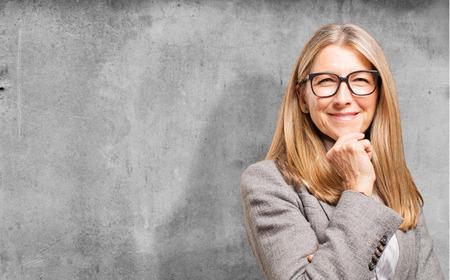 thinking woman: senior beautiful woman thinking