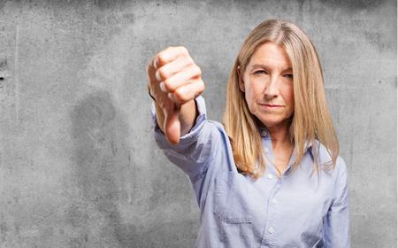 disagreement: senior beautiful woman disagreement