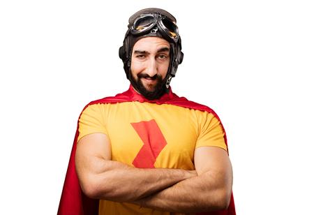 crazy super hero proud pose
