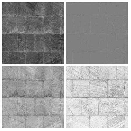 tiled stonesset of empty rouge places to your concept or product Фото со стока