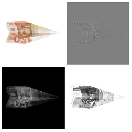bill plane. fifty euros 版權商用圖片