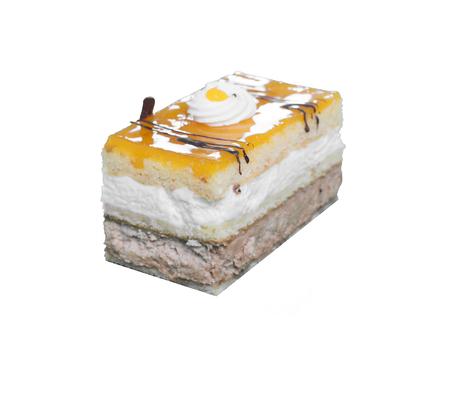 piece of cake isolated against white background Stock Photo