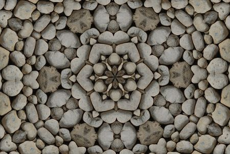 wholistic: kaleidoscopic pattern made from natural stones