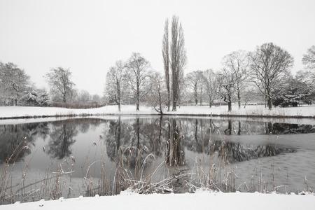netherlands: winter landscape in the Netherlands Stock Photo