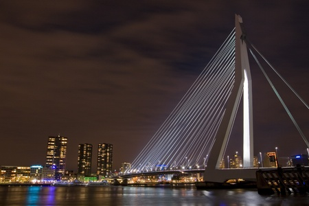 maas: Modern bridge in the Netherlands