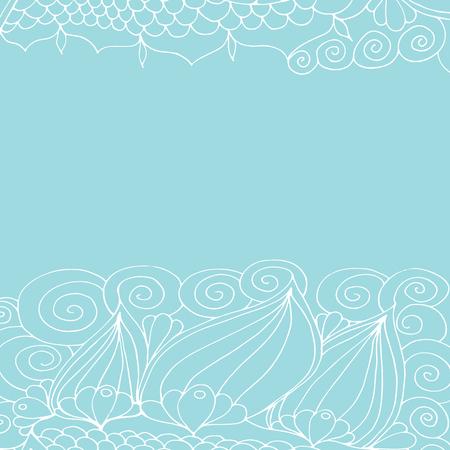 Motif floral blanc, ornement de dentelle. Graphiques vectoriels.
