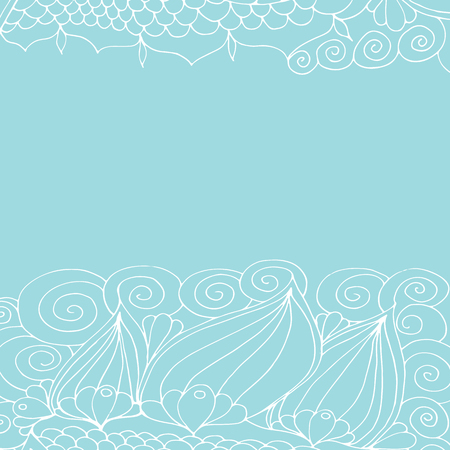 Patrón floral blanco, adorno de encaje. Gráficos vectoriales.
