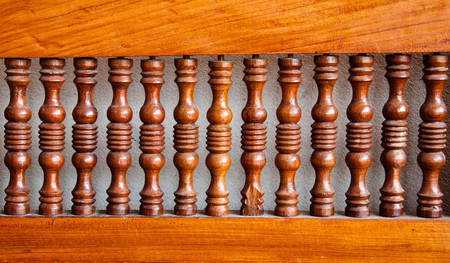 wood structure: Carved wooden rails
