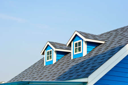 Small windows on the roof Standard-Bild