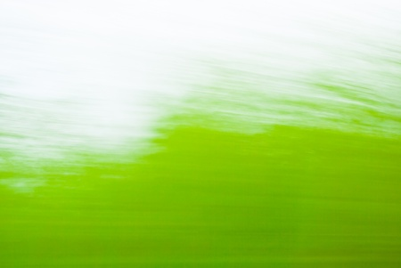green leaf blur, photograph on train running Stock Photo