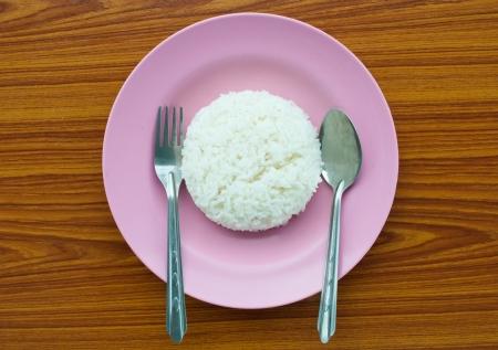 rice on dish photo