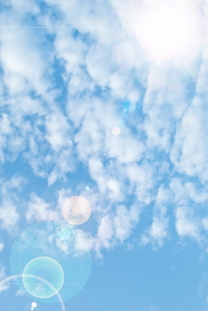 beautiful blue sky background photo