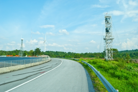 windmill in blue sky photo