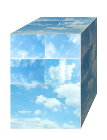 blue sky on box  for background