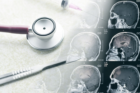 medical  equipment set in medical concept Stock Photo