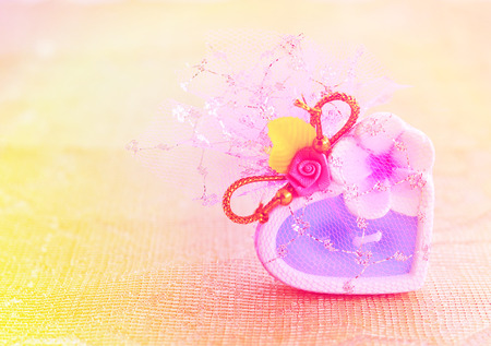 heart gift in valentine  vintage tone Stock Photo