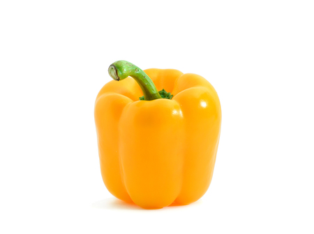 yellow pepper bell isolated on white background