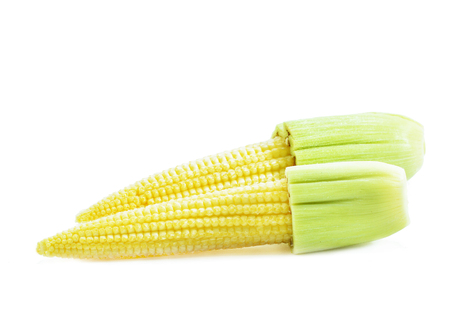 Young corn isolated on white background