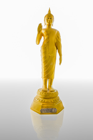 image buddha  stand isolate on white photo