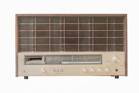 shortwave: Old radio, isolated on white background