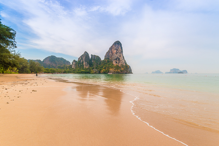 aonang: Railay beach in Krabi Thailand In the rainy season.