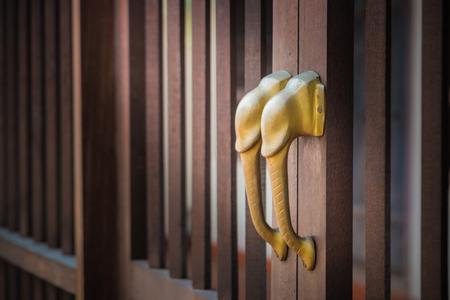 Chinese door handle elephant dark style.